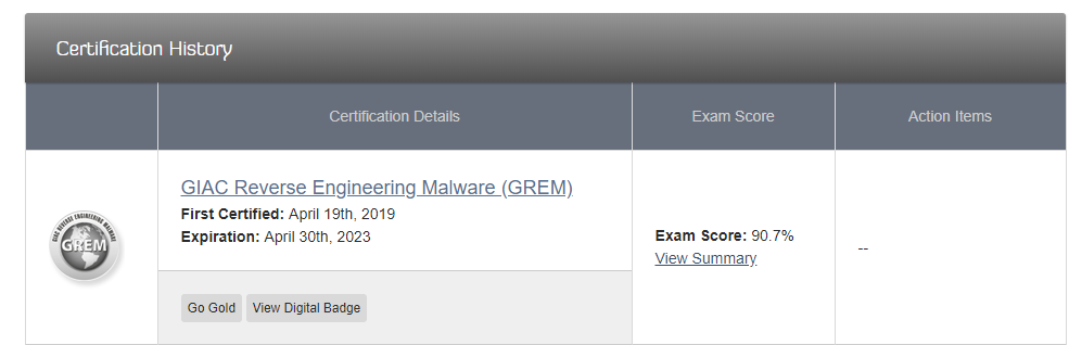 GIAC Reverse Engineering Malware (GREM) Review - Everything
